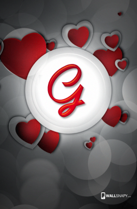 Heart Images Of Letter G Wallsnapy